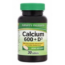 Nature's Measure Calcium and Vitamin D-3 x 30 Tablets