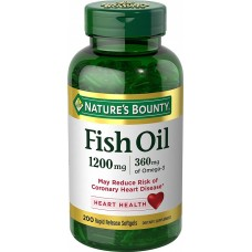 Fish Oil 1200 Mg x 360 Mg Omega3 x 200 Softgels