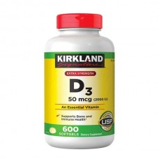 Extra Strength D3 x 50 mcg (2000 IU) X 600 Softgels